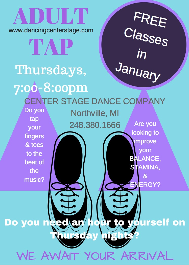 Adult Tap Classes Flyer