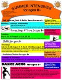 Youth Summer Classes Flyer