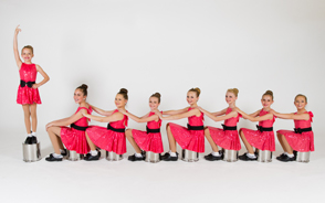 dance competition team in costume